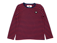Wood Wood blouse Kim navy/red stripes